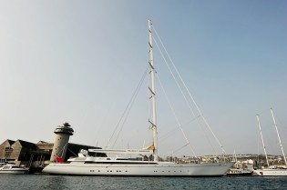 View large version of image: Pendennis´ New Refit - the World´s Largest Sailing Yacht M5 (ex Mirabella V)