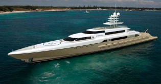 View large version of image: Espen Oeino designed 77m Superyacht Smeralda launched by Hanseatic Marine