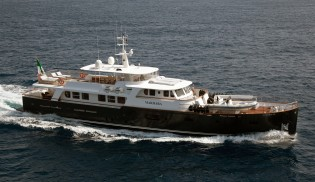 View large version of image: Ocea 108 Commuter charter yacht Marhaba stabilised by Seakeeper gyros