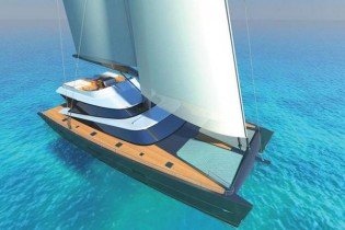 View large version of image: 27m sailing yacht Blue Coast 88 by Latitude Yachts scheduled to be delivered in 2013