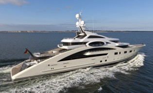 View large version of image: Lurssen 85m superyacht ACE (ex project Rocky) successfully completes sea trial