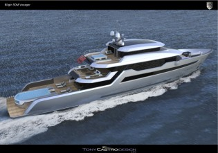 View large version of image: 52m yacht Bilgin Voyager 170´ created by Tony Castro