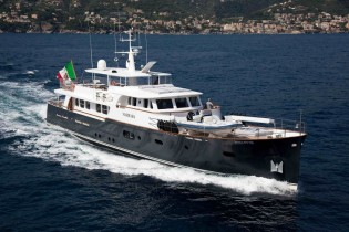 View large version of image: Motor yacht INSPIRATION B and yacht MARHABA available for charter at the Naples America's Cup World Series 2012