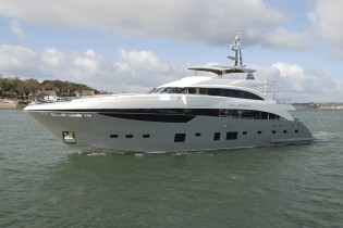 View large version of image: 40m Imperial Princess Superyacht by Princess Yachts completes her initial sea trials