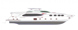 View large version of image: Luxury yacht Majesty 105 by Gulf Craft makes her debut at 2012 Dubai Boat Show