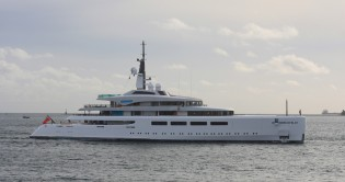 View large version of image: Largest UK built 96m superyacht Vava II delivered