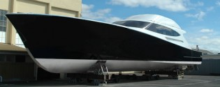 View large version of image: 27.5m yacht SATU by Yachting Developments near her completion with launch in August 2012