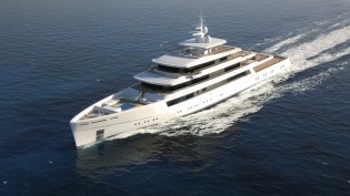 View large version of image: 90m Project Light yacht by Nauta Yacht Design