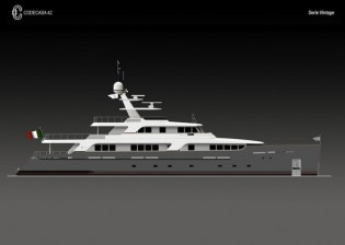 View large version of image: Codecasa 42 Vintage hull F75 yacht´s launch scheduled for spring 2013