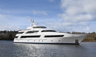 View large version of image: 50m custom yacht Arianna by Delta Marine launched