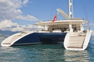"""View large version of image: 7-day yacht charter on board the world´s largest catamaran yacht Hemisphere as prize in Christie's """"Bid to Save the Earth"""" Green Auction"""