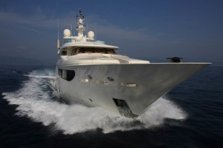 View large version of image: Charter special for the 43m CRN luxury motor yacht HANA in the Western Mediterranean