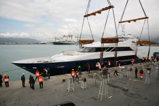 View large version of image: Admiral Tecnomar Group launches the Nadara 45m charter yacht Ouranos