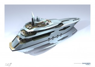 View large version of image: Bannenberg & Rowell designed 44m motor yacht Scorpio by CMN Yachts