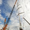 Pendennis removes the 89m mast of the 75.2m megayacht M5 (ex Mirabella V)