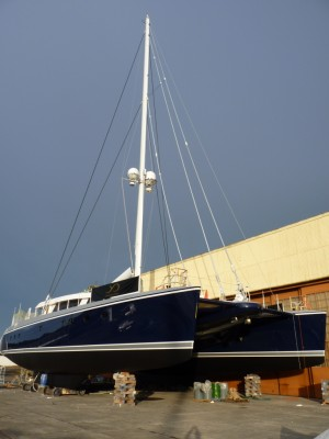 View large version of image: First look at the 30.48m catamaran yacht Q5 (hull YD66) by Yachting Developments
