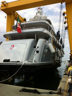 View large version of image: Rossinavi launched the 46m luxury yacht 2 Ladies (hull FR025)