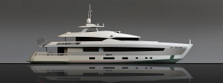 View large version of image: 42m Heesen yacht YN 17042 with Hull Vane sold