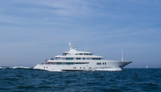 View large version of image: 63m ICON yacht Maidelle goes through her first technical sea trials