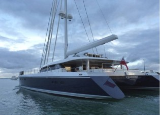 View large version of image: Yachting Developments launched the 30.48m catamaran yacht Q5 Quintessential (hull YD66)