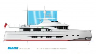 View large version of image: Diana Yacht Design present 28m yacht DIANA Blu concept