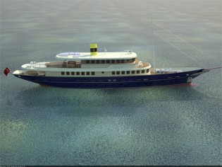 View large version of image: 48.7m yacht Bilgin 160 Classic with launch at the end of June 2012