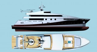 View large version of image: Beta Marine designed 59m yacht Project 591
