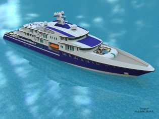 View large version of image: Mega Yacht Concept 90 m.