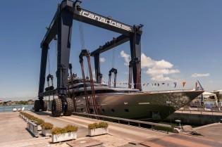 View large version of image: Canados Shipyard launch the new Canados 120 luxury yacht Far Away