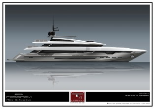 View large version of image: New sale for Rossinavi: Another 49m superyacht Prince Shark (hull FR028)