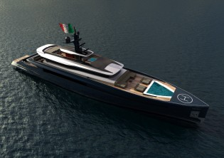 View large version of image: Pama Design and Valerio Romondia designed 60m superyacht Impervia
