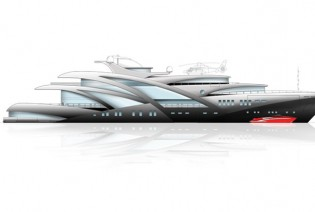 View large version of image: Docq Concepts designed 95m luxury yacht Pendendo
