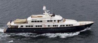 View large version of image: 47m Feadship superyacht A2 (ex Masquerade of Sole) refitted by Pendennis
