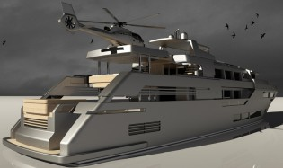 View large version of image: Bernardo Zuccon designed 54m superyacht Discovery