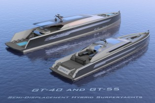 View large version of image: IYD presents 40m GT-40 H yacht and 55m GT-55 H superyacht