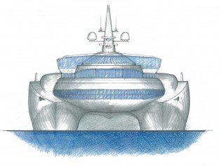 View large version of image: Meccano Engineering and Marcello Papa Architects designed X-One yacht concept