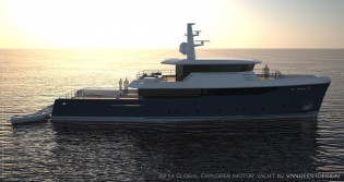 View large version of image: Van Geest designed 32M Global Explorer yacht