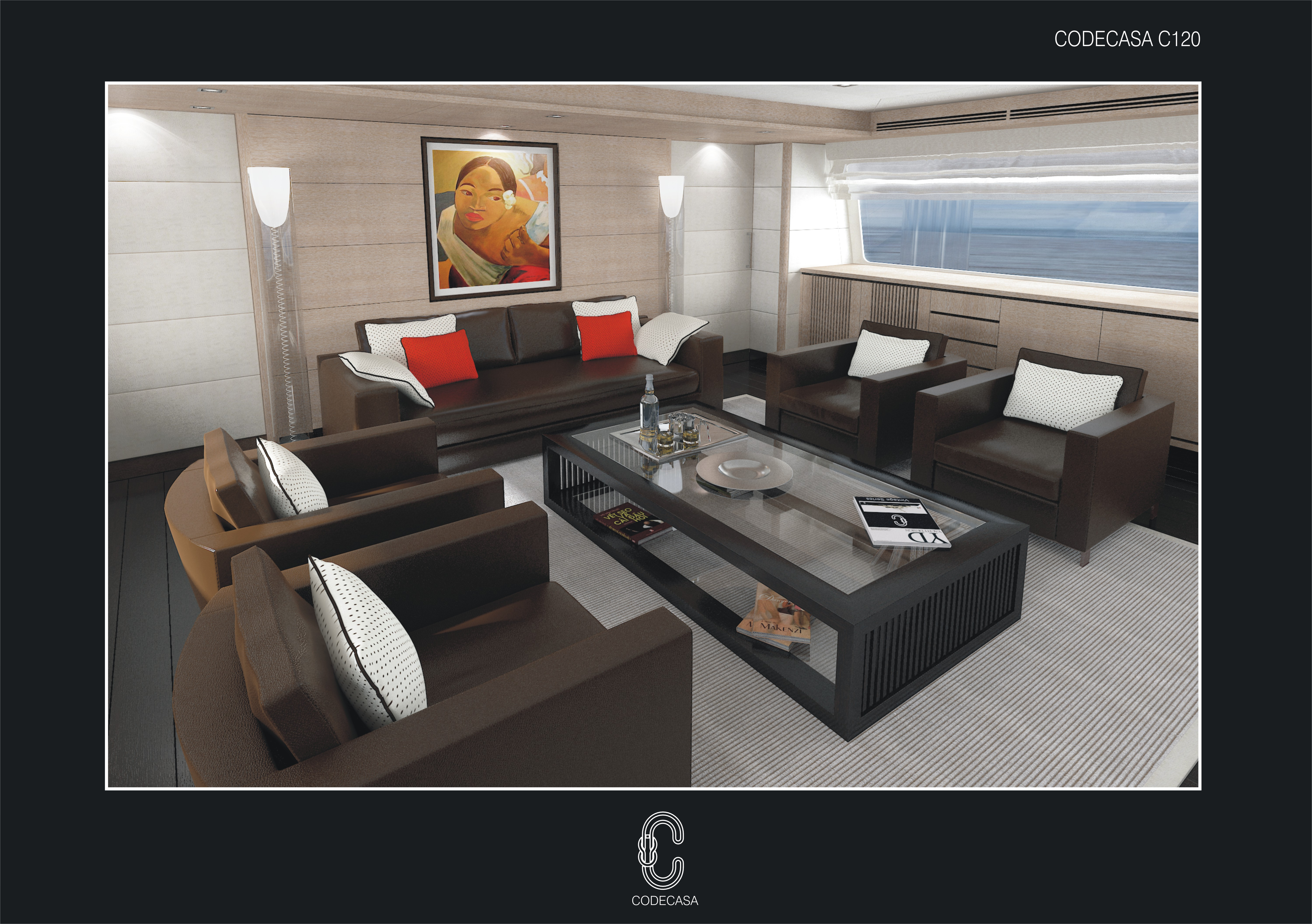 The first interior images of the Codecasa 50s yacht Hull C 120