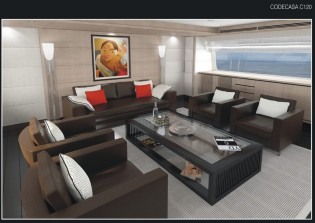 View large version of image: The first interior images of the Codecasa 50s yacht Hull C 120