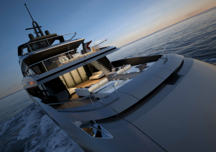 View large version of image: HOT LAB designed M50 yacht project by Mondo Marine