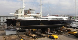 View large version of image: 50m luxury yacht Enterprise (hull C.2173) by Perini Navi delivered