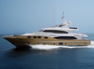 View large version of image: The second Majesty 125 superyacht Marina Wonder launched by Gulf Craft