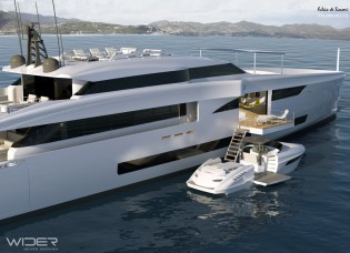 View large version of image: The Flagship of Wider Yachts - 45m luxury yacht Wider 150