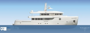 View large version of image: Stolk Marimecs designed 35m Blue Water Explorer yacht