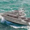 The first FPB 97 yacht by Dashew Offshore under construction