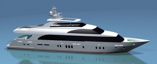 View large version of image: Superyacht GIGI II by Hargrave Custom Yachts to be exhibited at FLIBS