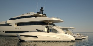 View large version of image: Wider 150' superyacht featuring futher developments