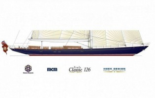 View large version of image: A new yacht contract for Claasen Shipyards: a Hoek 126ft Classic sailing yacht