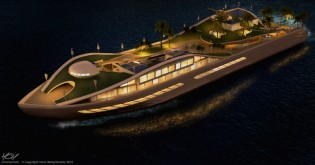 View large version of image: A new concept by MCM Designstusio: Floating Island/Megayacht Island(E)motion