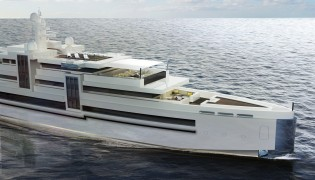 View large version of image: Newcruise presents 75m megayacht CUBE concept
